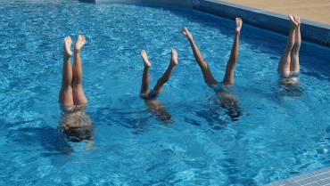 Aqua gym in het zwembad